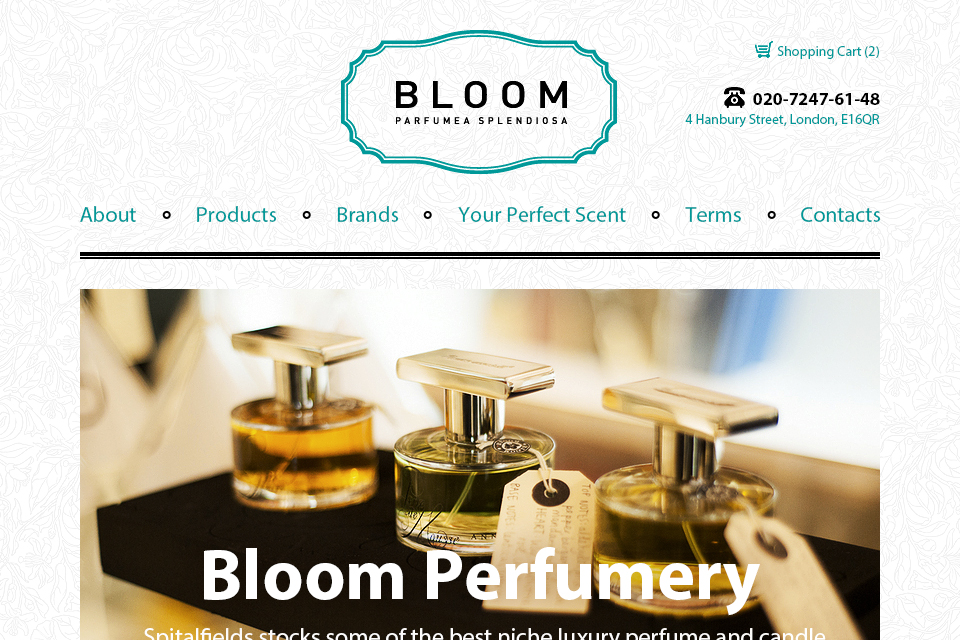 Дизайн интернет-магазина Bloom Perfumery